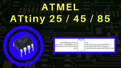 Photo of ATMEL ATtiny25/45/85 con Arduino