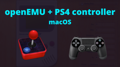 Photo of OpenEMU, macos e PS4 controller